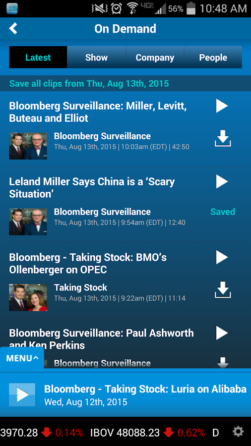 Bloomberg Radio+- screenshot