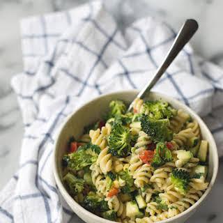 Summer Pasta Salad With Lemon-tahini Dressing.