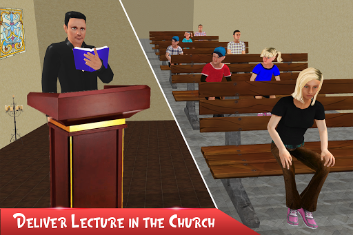 Virtual Father Church Manager apkmr screenshots 2