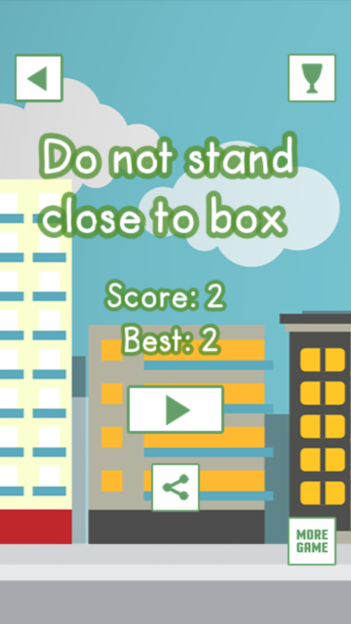 Do not stand close to box- screenshot