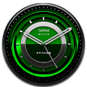 PYTHON Designer Clock Widget black green icon