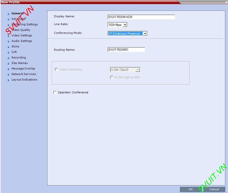 Create profiles on MCU Polycom RMX (3)