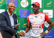 Madosh Tambwe of the Lions is Man of the Match during the Currie Cup match between Xerox Golden Lions XV and Phakisa Pumas at Emirates Airline Park on July 13, 2019 in Johannesburg, South Africa.