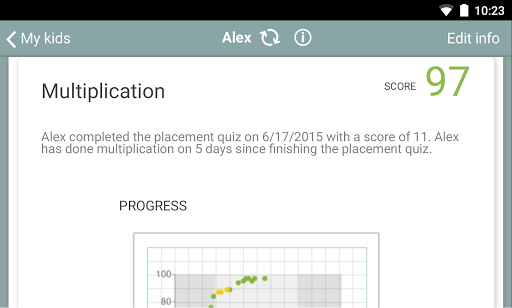 Screenshot for XtraMath in United States Play Store