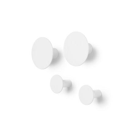 Väggkrok Ponto set/4 lily white
