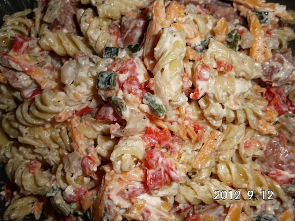 Smoked Summer Sausage Pasta Salad Recipe