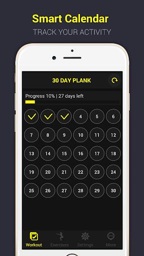 30 day plank challenge free screenshot 2