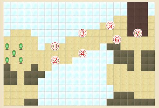 魔法の軌跡_モンスターレベル20のキャラ配置マップ