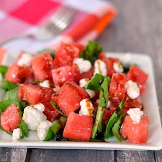 Watermelon Goat Cheese Salad.
