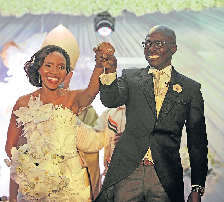 Norma and Malusi Gigaba on their wedding day in 2014.