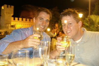 Photo: Chris and Curt...the sober ones of the foresome