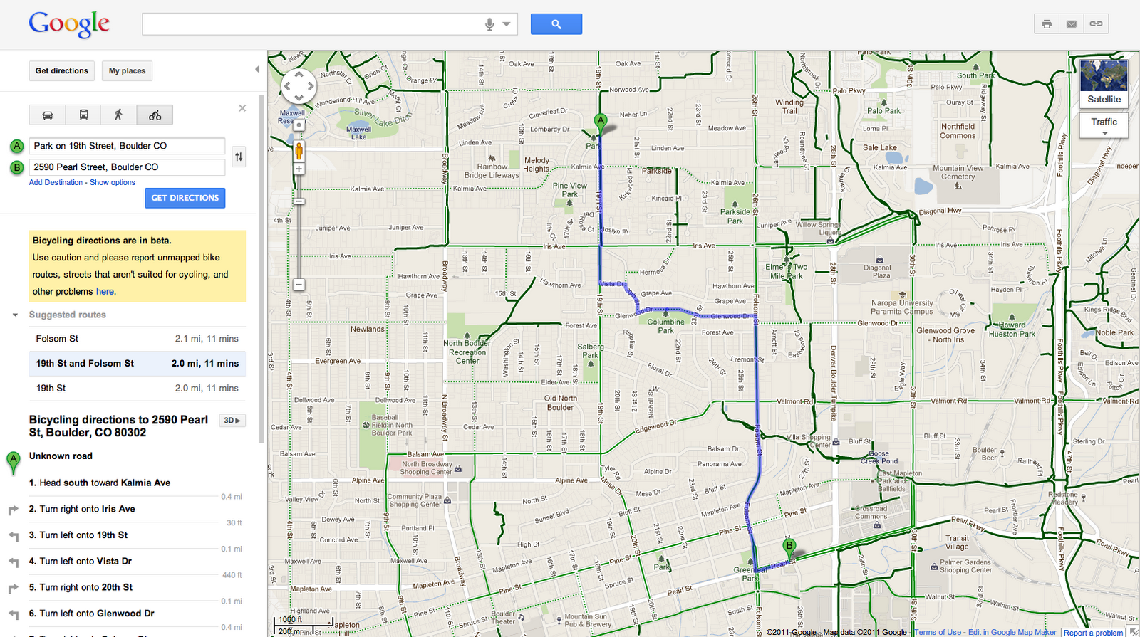 google green blog: take the green route in google maps