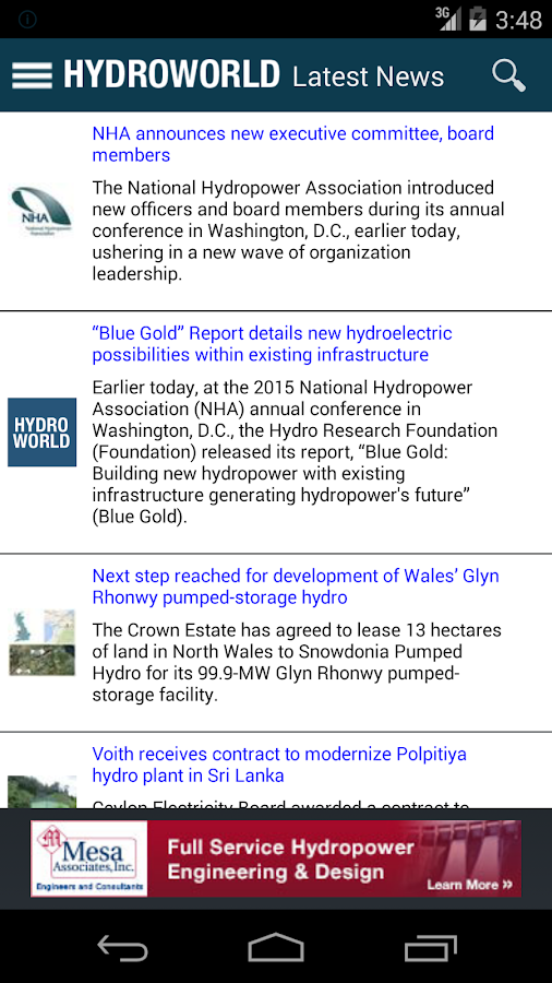 HydroWorld News - screenshot