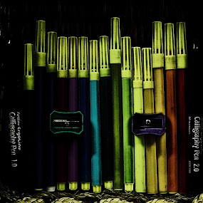 Devil's Colors by D K - Artistic Objects Still Life ( pen, color, sketchpen, art, basket, artist )