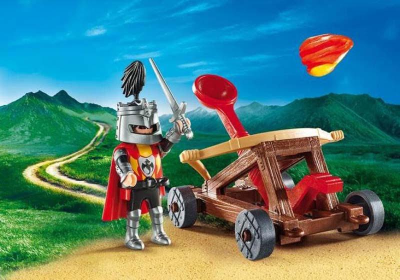 Contenido real de Playmobil® 9106 Maletín Catapulta de Caballeros