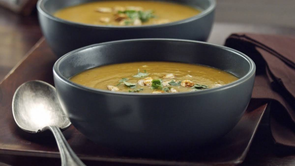 Curry Roasted Butternut Squash Soup