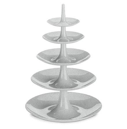 BABELL BIG Kakfat / Våningsfat / Serveringsfat, Organic grey