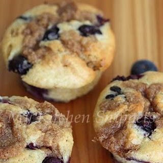 Brown Butter Blueberry Streusel Muffins