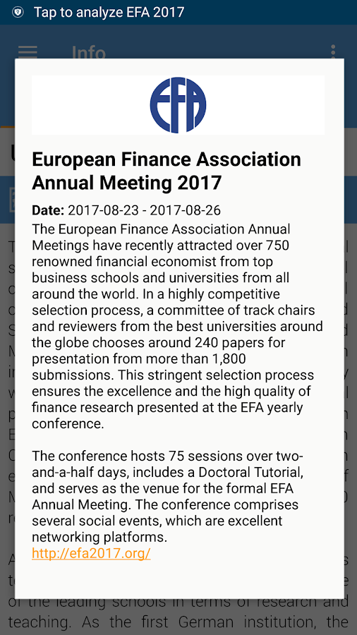 EFA 2017- screenshot