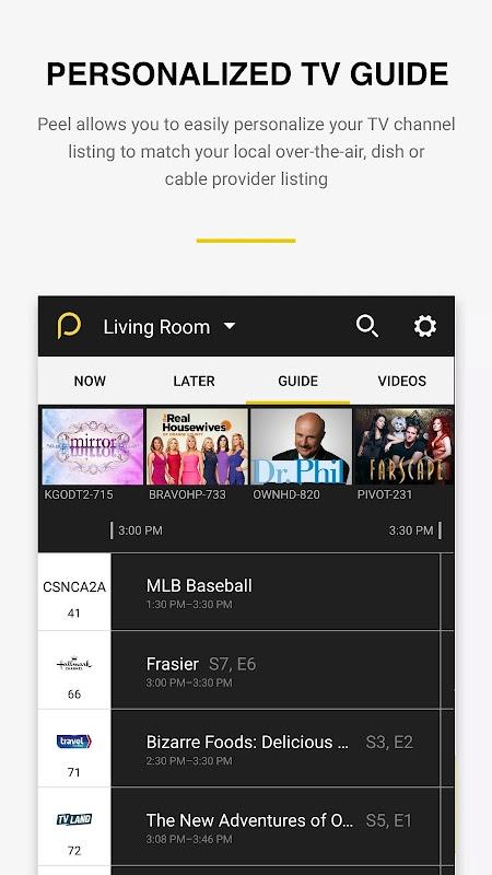 Peel Universal Smart TV Remote Control screenshots