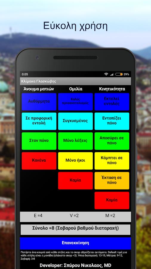 Κλίμακα Γλασκώβης Lite - στιγμιότυπο οθόνης