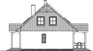 Domek Ciepły szkielet drewniany 012 SK V1 - Elewacja prawa