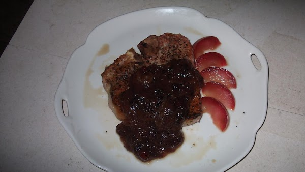 Thick Cut Pork Chops With A Spicy Cranberry Sauce Recipe