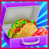 Taco Lunch Box Cheese Food : Kitchen Cooking Games