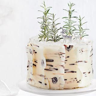 Vanilla and Coconut Birch Bark Cake.