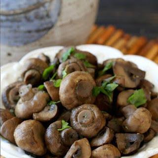 Slow Cooker Balsamic Glazed Mushrooms.