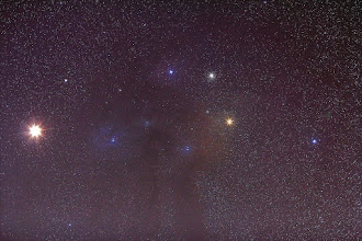 Photo: Mars, Rho Ophiucus, Antares, M4
