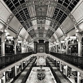 The Mall by Handi Laksono - Buildings & Architecture Other Interior ( black and white, qvb, sydney, mall )