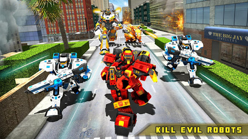 Rhino Robot Car transforming games u2013 City battle filehippodl screenshot 17