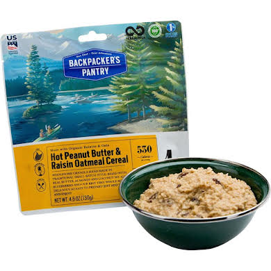 Backpackers Pantry Organic Peanut Butter and Raisin Oatmeal Hot Cereal: 1 Serving