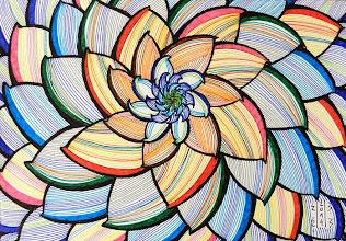 Photo: Tablou Flori abstracte 3 Tablou realizat de Maia Martin, artist plastic Tehnica: fineliner pens de 0,4 mm pe hârtie desen Inramate cu ramă plastic Hornbach  Preţ : 50 lei Nu mai este in stoc  http://dekoratiuni.blogspot.ro/2014/04/tablou-flori-abstracte-3.html