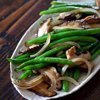 Pressure Cooker Green Beans Shiitake Mushrooms.