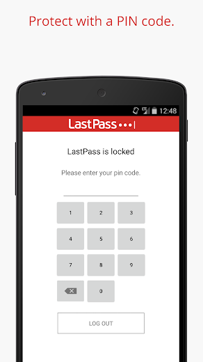 Screenshot 7 for LastPass's Android app'
