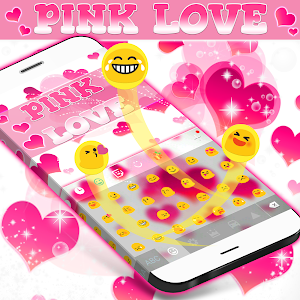 Pink Love Keyboard screenshot 1