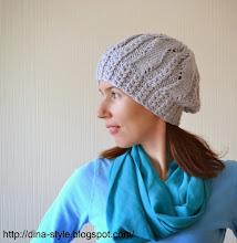 Photo: женская вязаная шапочка -берет Серебро