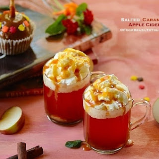 Quick Salted Caramel Apple Cider -- the Ultimate Fall Drink! Recipe