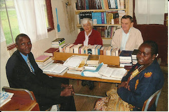 Photo: This is the longest serving translation team and the group that saw the work completed: Desalegn, Breezy, Niles, Ajulo.