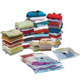 Obtine mai mult spatiu in dulapul tau! Set 4 saci pentru vidat haine