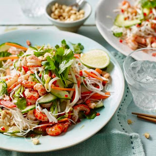 Vietnamese-style Crayfish And Noodle Salad.