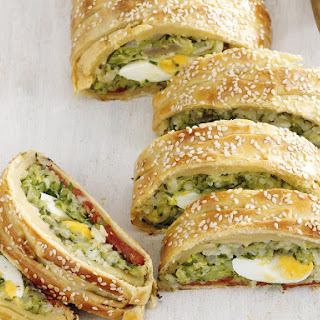 Zucchini, Cheese and Chorizo Twists.