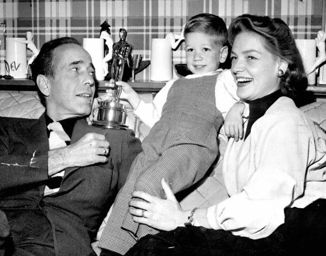 Bogart zsynem Stefanem i żoną Lauren Bacall,
