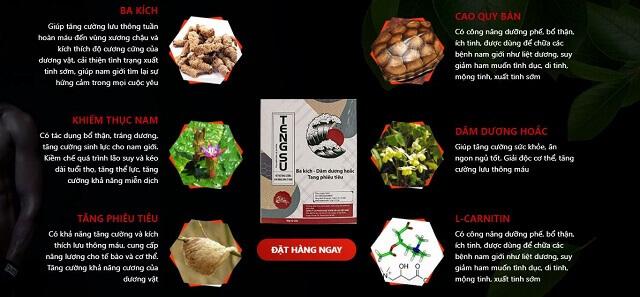 Viên kẹo ngậm tengsu được chiết xuất chủ yếu từ thiên nhiên nên an toàn với sức khoẻ của nam giới