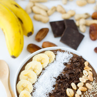 Chocolate Peanut Butter Smoothie Bowl.