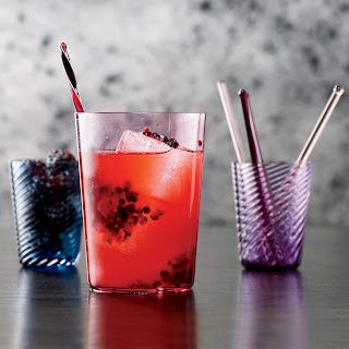 Bourbon Blackberry Collins.