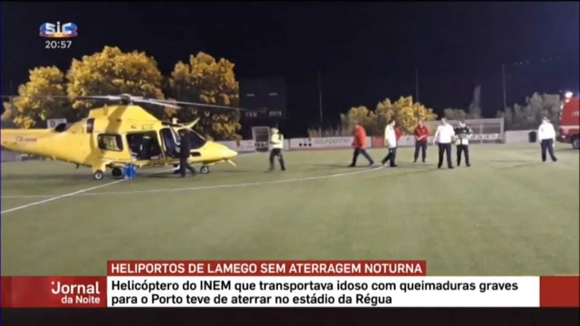 Vídeo - Lamego sem aterragem de emergência médica à noite