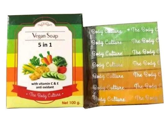 sabun sayur sabun Vegan Soap 5 In 1 THE BODY CULTURE memutihkan kulit aman ibu hamil ibu menyusui